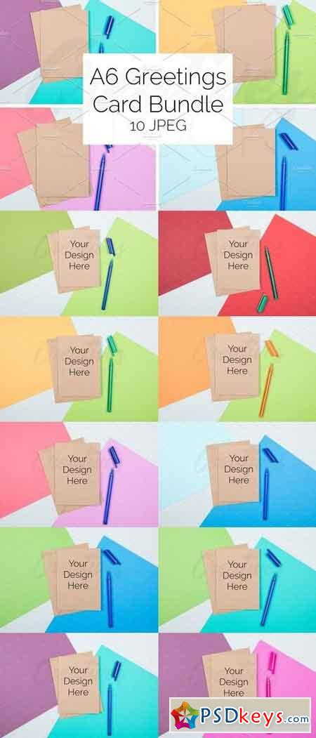 A6 Kraft Card Bundle STOCK - 10 JPEG 1811931
