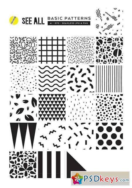 Summer Memphis Patterns + Templates 1466493