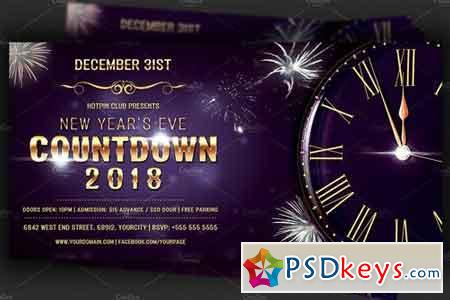 Nye Countdown Party Flyer Template 2094129