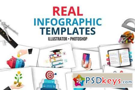 Real infographic templates 1825529