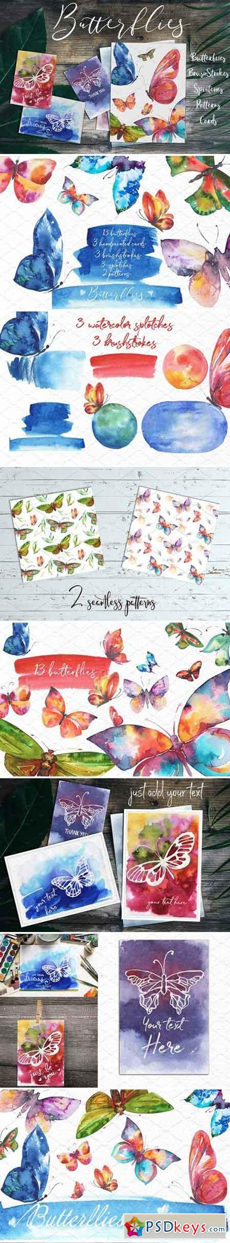 Butterflies Watercolor Set 2083869