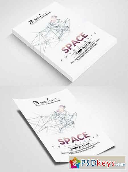 Space Futuristic Flyer 1824060