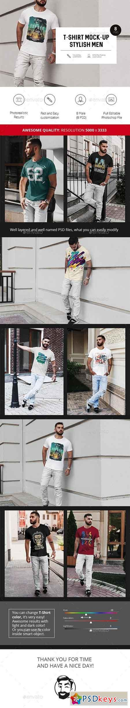 T-Shirt Mock-Up Stylish Men 20899701