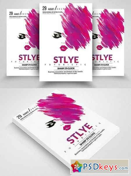 Style Futuristic Flyer Template 1824072