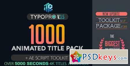 Typopro Typography Pack - Title Animation - Kinetic - Minimal - Vintage V3.5 20448499 - After Effects Projects