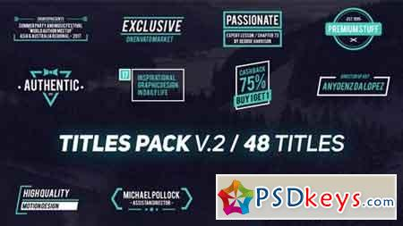 Titles Pack V.2 21032468 - After Effects Projects