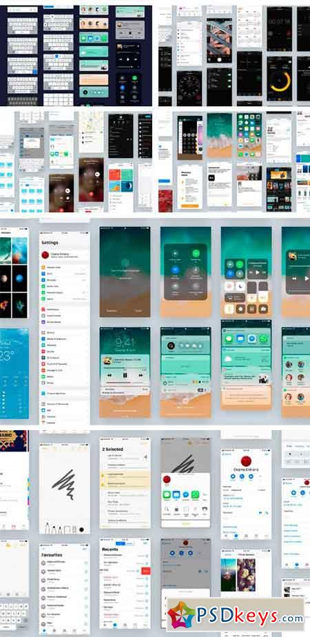 iOS11 GUI KIT Full Version 2130279