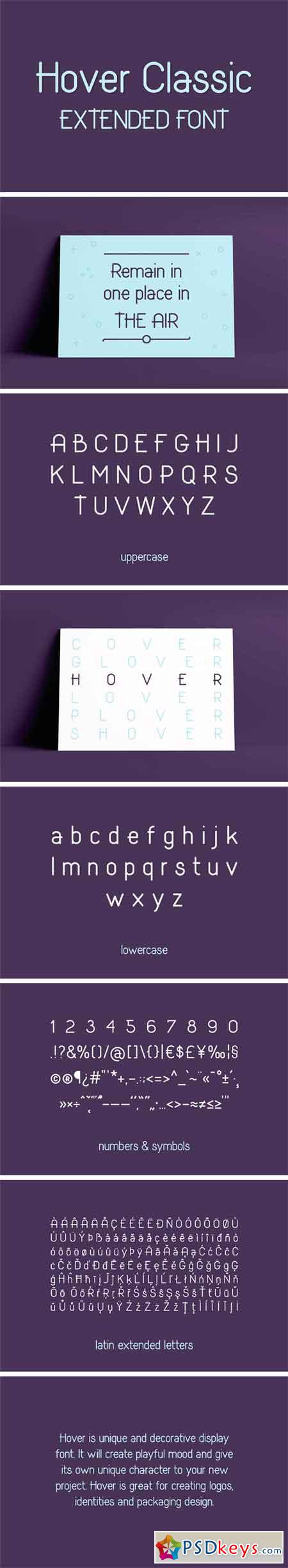 Hover Classic Extended Font 2113225