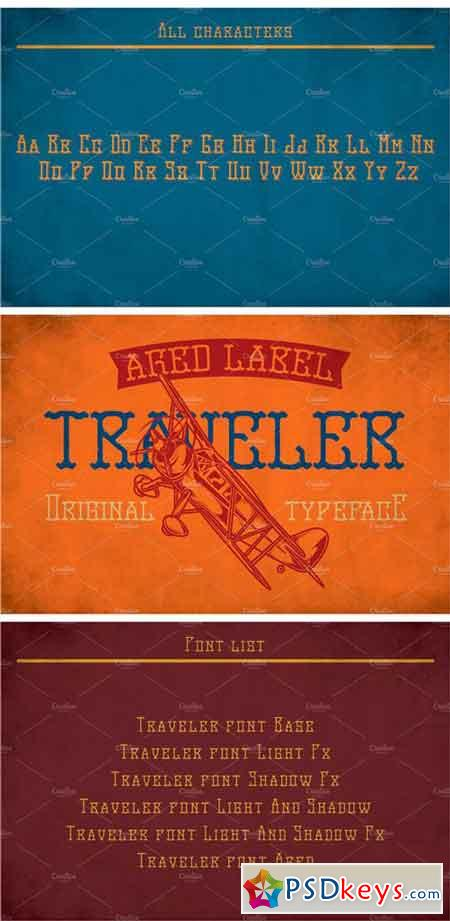 Traveler Modern Label Typeface 2148420