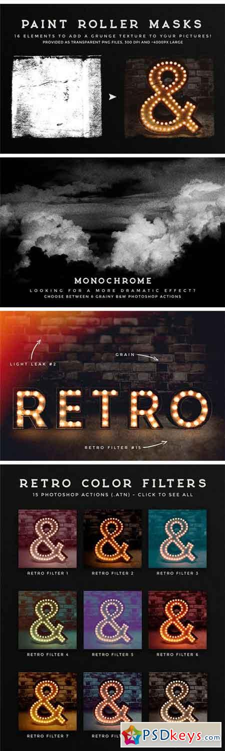 Photoshop Retro Photo Kit 2084306
