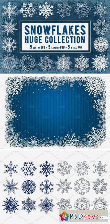 Snowflakes Collection Vector 2084969