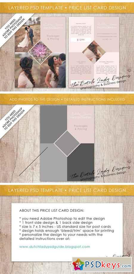 PSD Photo Price Card Template #7 2164262