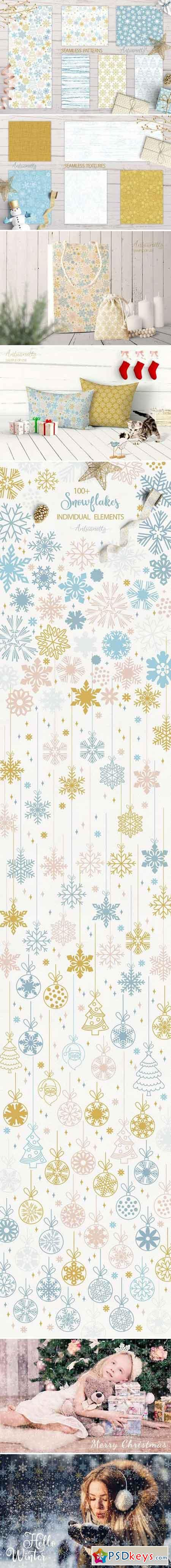 Sparkling snowflakes collection 2104105