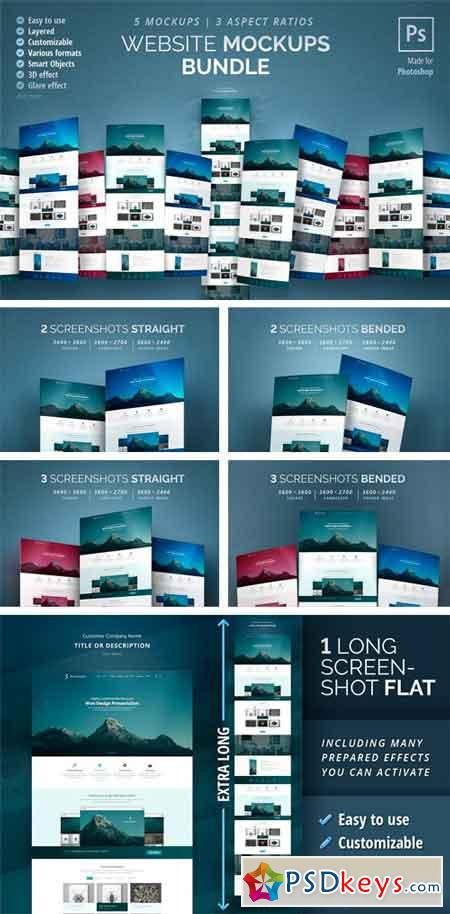 Website Mockups Bundle 2165104 » Free Download Photoshop Vector
