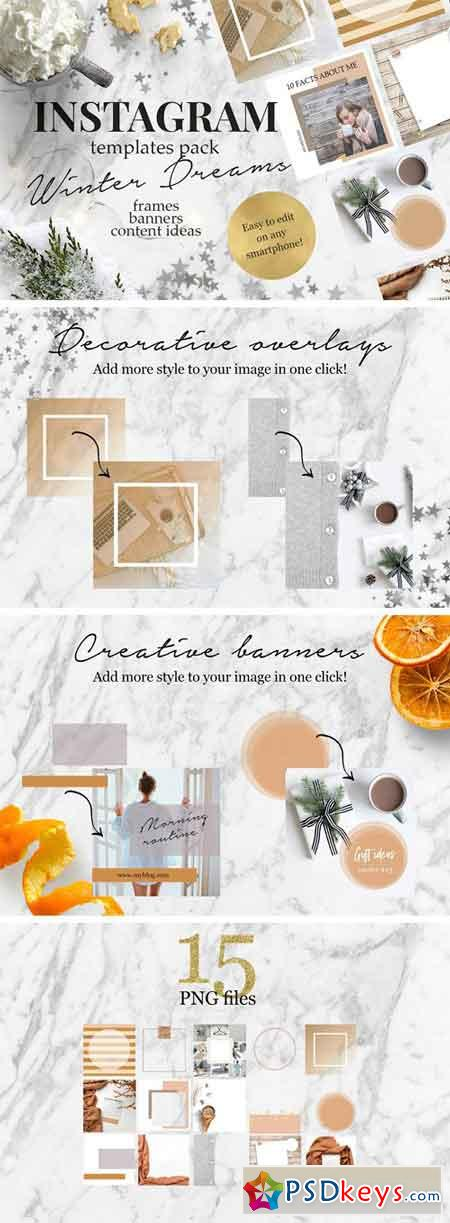 Winter Hygge Instagram Templates 2132445