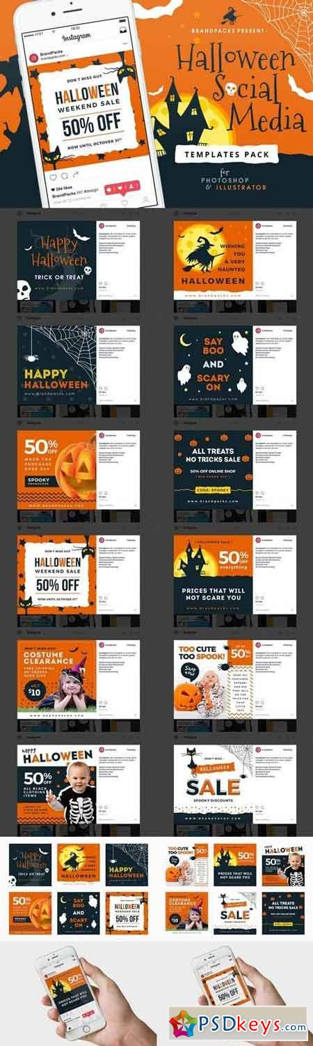 Halloween Social Media Templates 1898978