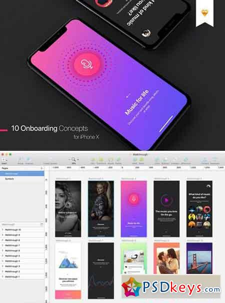 Walkthrough UI Kit for iPhone X 2102597