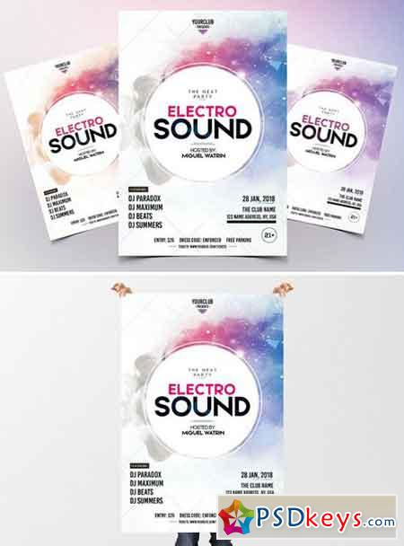 Electro Sound - Party PSD Flyer 2102643