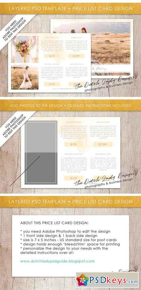 PSD Photo Price Card Template #6 2164259