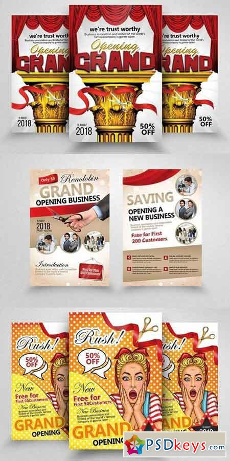 10 Grand Opening Flyer Bundle Vol 02 1826125