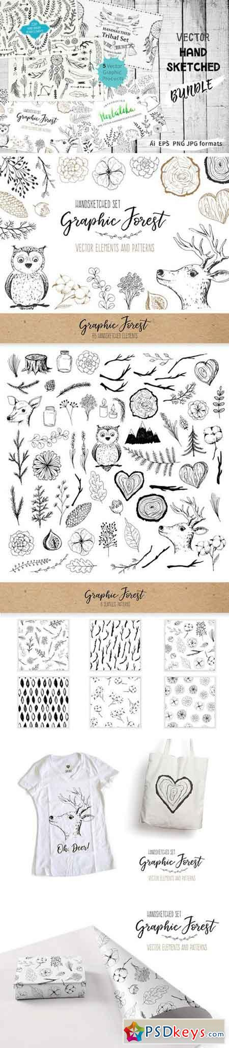 Vector Hand Sketched BUNDLE 2069738