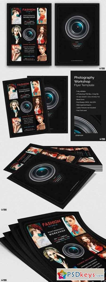 Photography Workshop Flyer Template 1856252