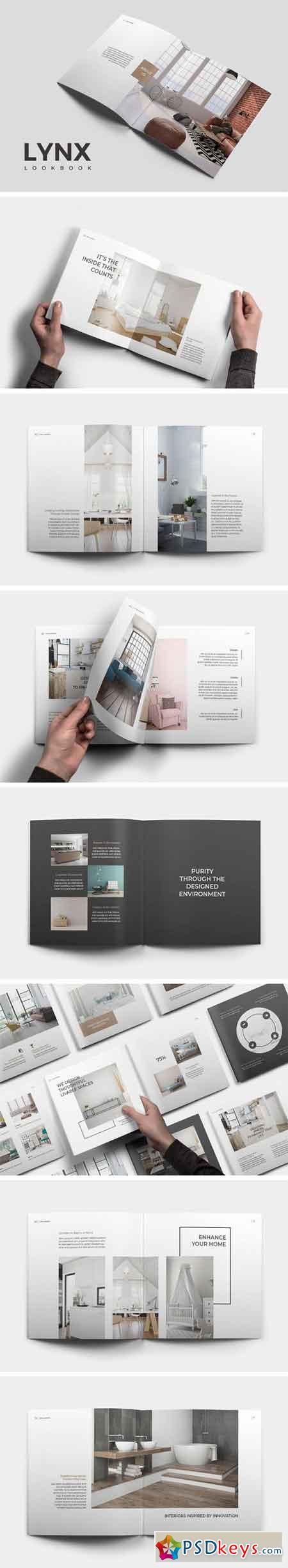 Lynx Lookbook Template 2148462 » Free Download Photoshop Vector ...