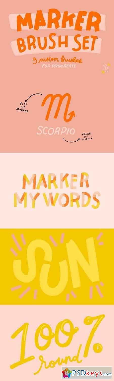 Procreate Marker Brush Set 1897571