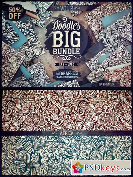 Big Doodle Patterns Bundle #2 2100651