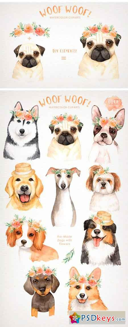 Woof Woof! Dogs Lover Cliparts 2130857