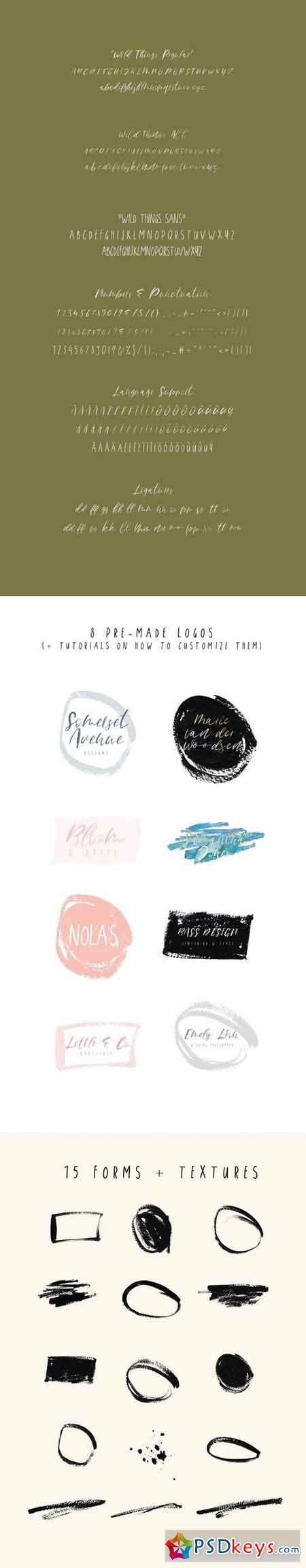 Wild Things Font Trio + Extras 1902077