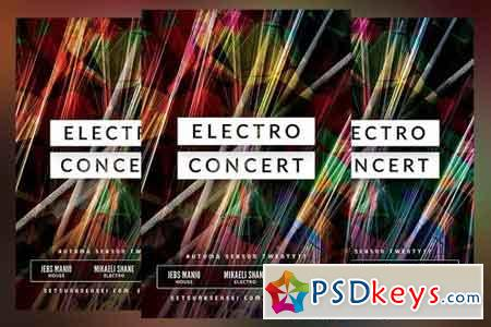 Electro Concert Flyer 1465573