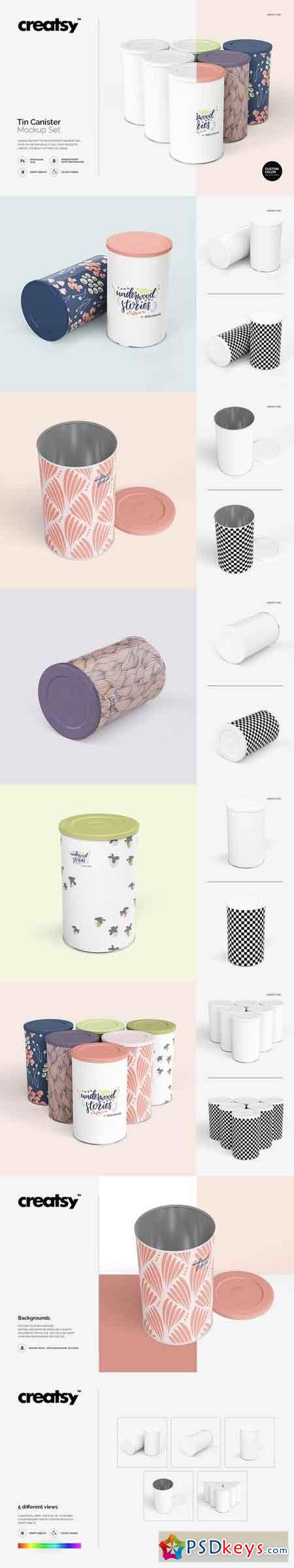 Tin Canister Mockup Set 2018842