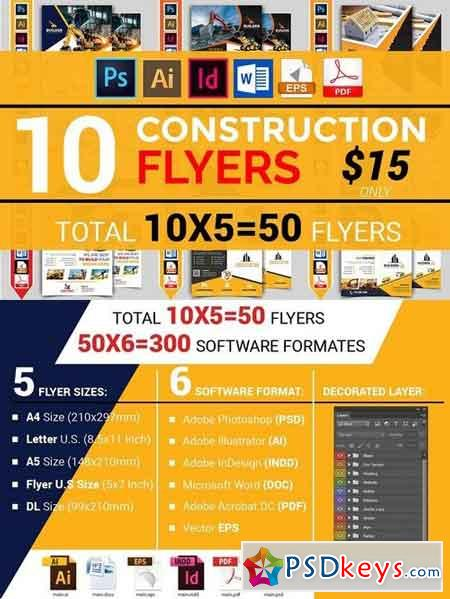10 Construction Flyer Bundle 1916352
