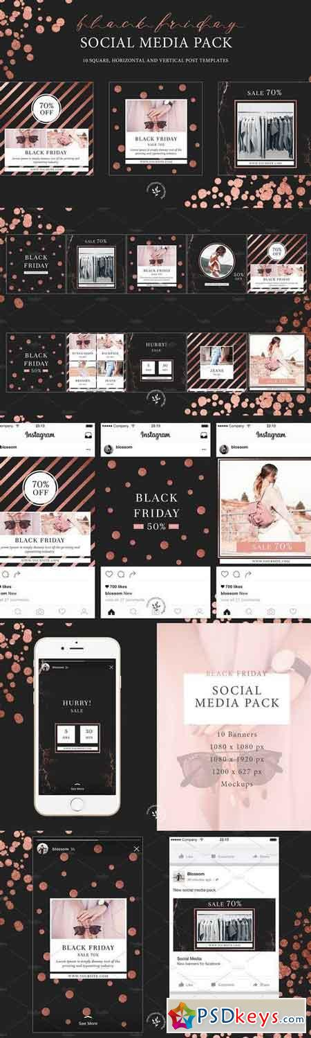 Black Friday Social Media Pack 2045859