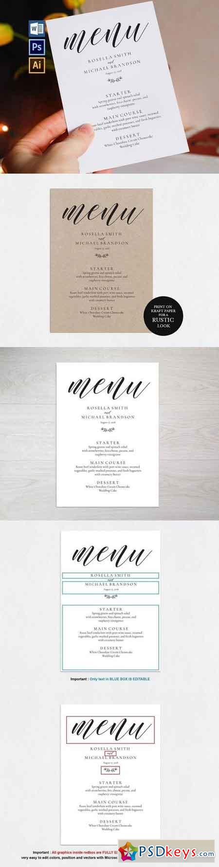 Wedding Menu Template Wpc88 1466065