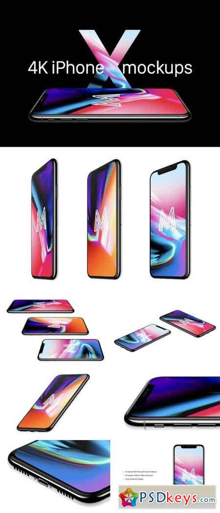 10 iPhone X hi-res mockups 1857698
