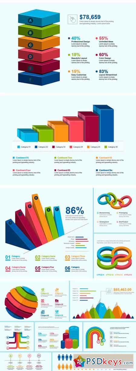 3D Business Infographic Elements 2110114