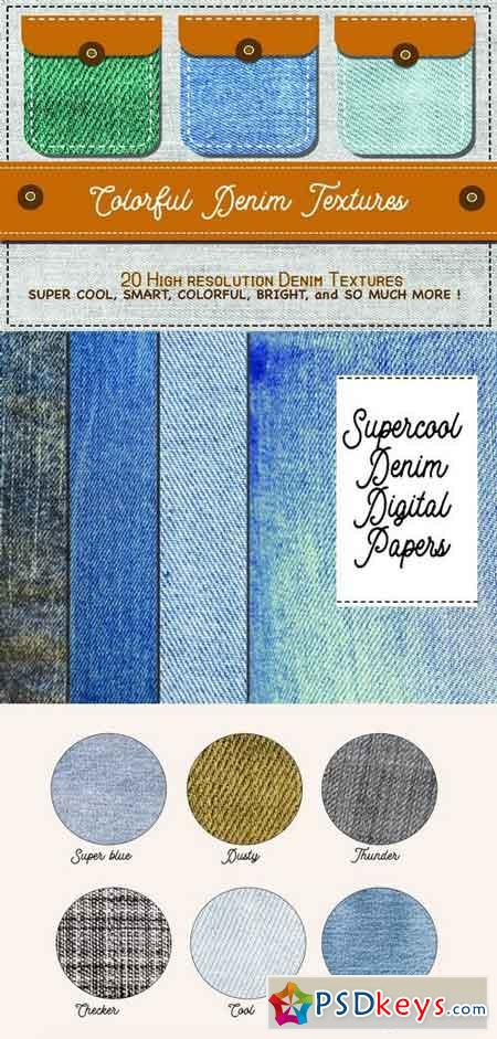 Supercool 20 Denim Textures 1499740