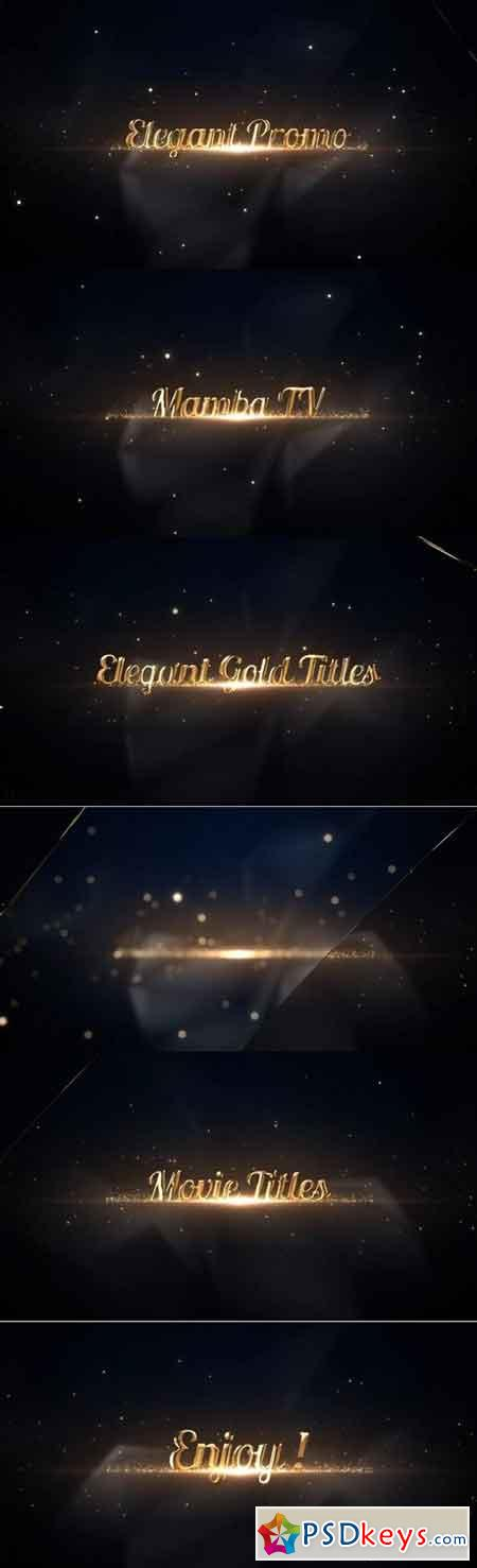 Elegant Gold Titles 57885 - After Effects Projects