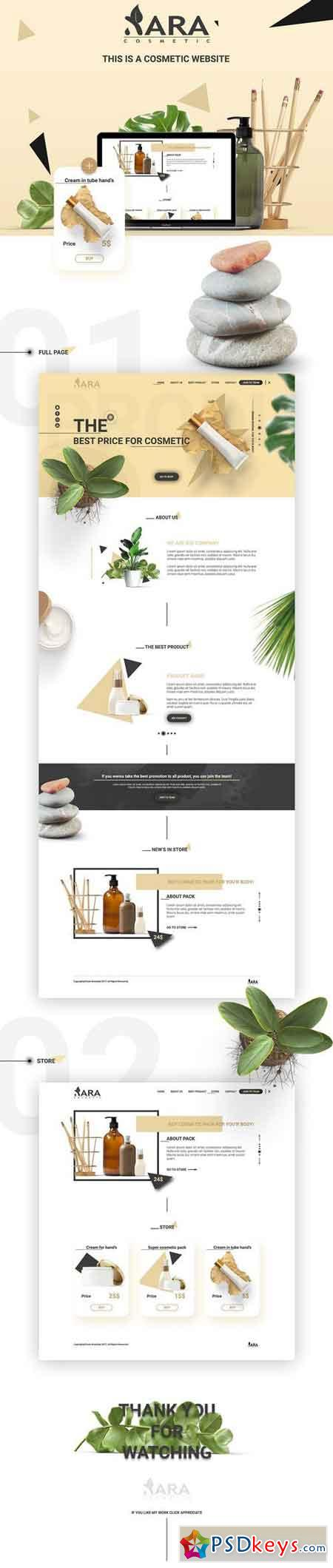 Xara Cosmetic Web Template 1478661