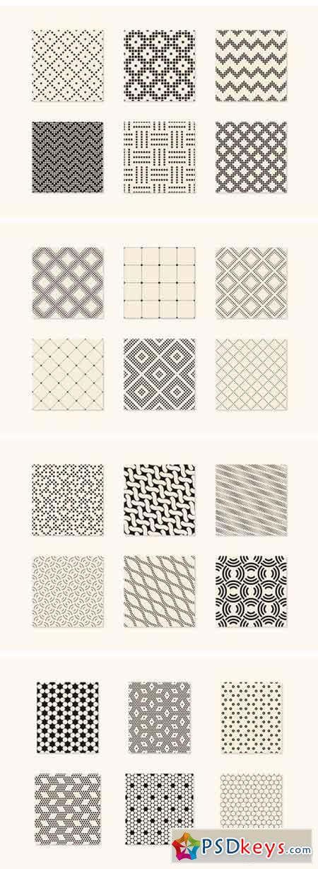 Minimalist Seamless Patterns Set 2101476