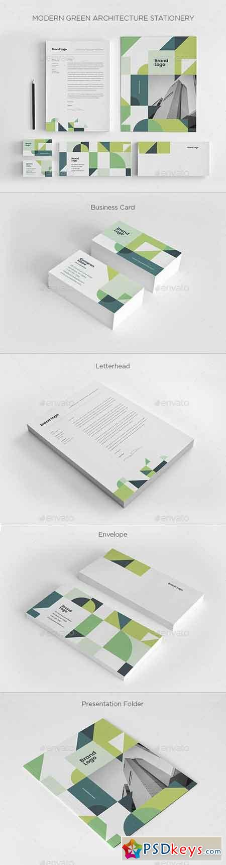 Modern Green Architecture Stationery 21226713