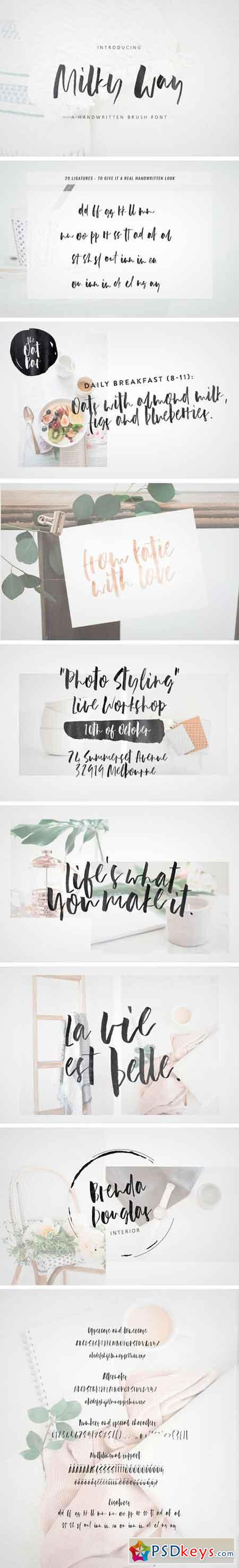 Milky Way Brush Font 2174035