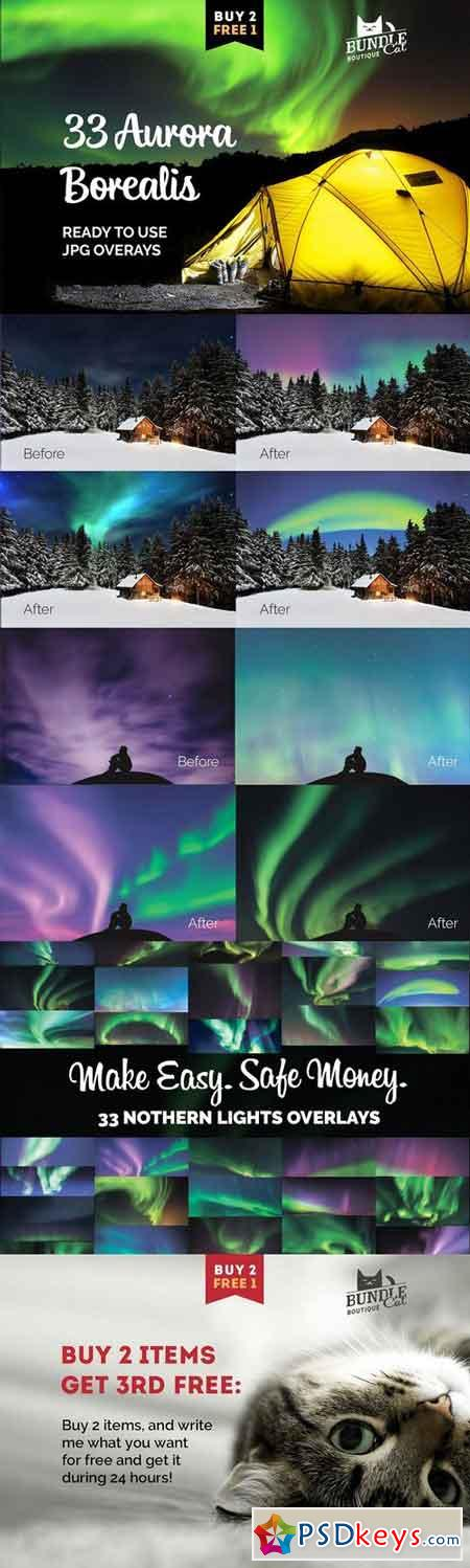 33 Aurora Borealis Photo Overlays 1843630