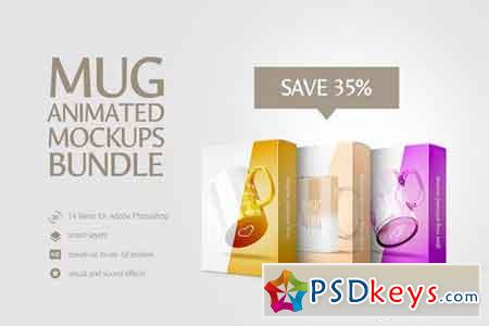 Mug Animated Mockups Bundle 1549659
