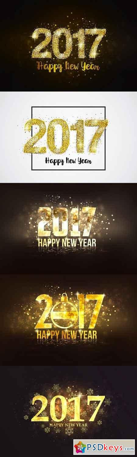 Set of Happy New Year backgrounds 1067669