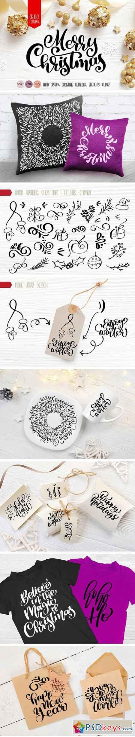 Xmas Lettering & Doodle Elements 2121640