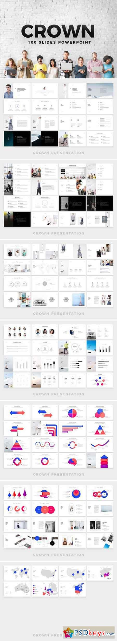 CROWN Powerpoint Template 1818973