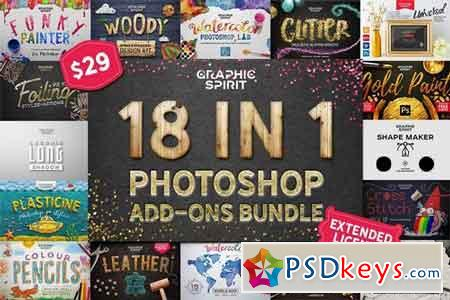 18 IN 1 Photoshop Bundle SALE 1811554